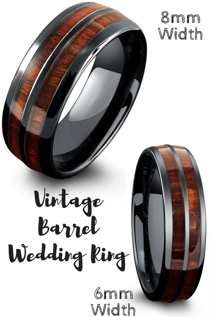 The Vintage Wood Barrel Wedding Ring Mens Rings That Are Both Durable And
