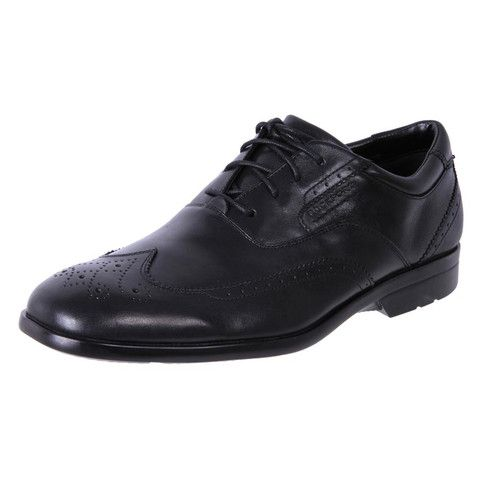 Rockport Men's Comfort Dress Shoes Business Lite Wingtip Black | The Shoe  Link