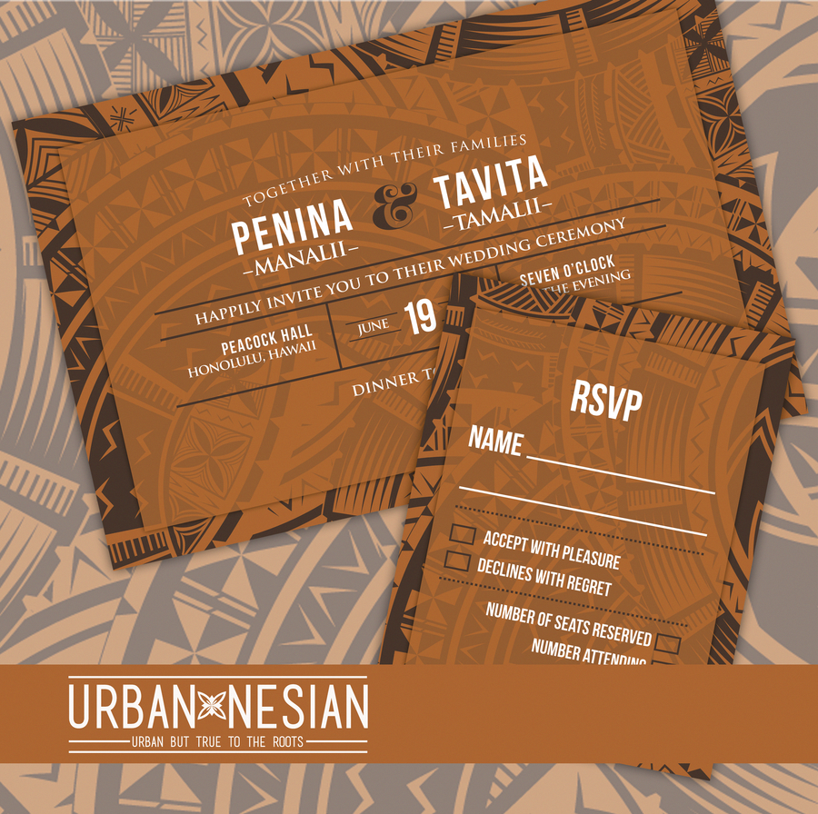 Samoan/Tongan/Fijian Wedding Invitations & RSVP Cards
