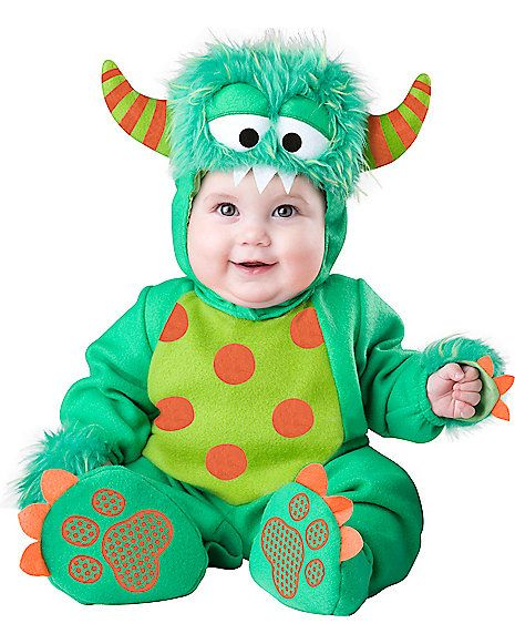 Baby Green Faux Fur Trimmed Monster Costume Spirithalloween Com Monster Costumes Cute Baby Halloween Costumes Baby Boy Halloween