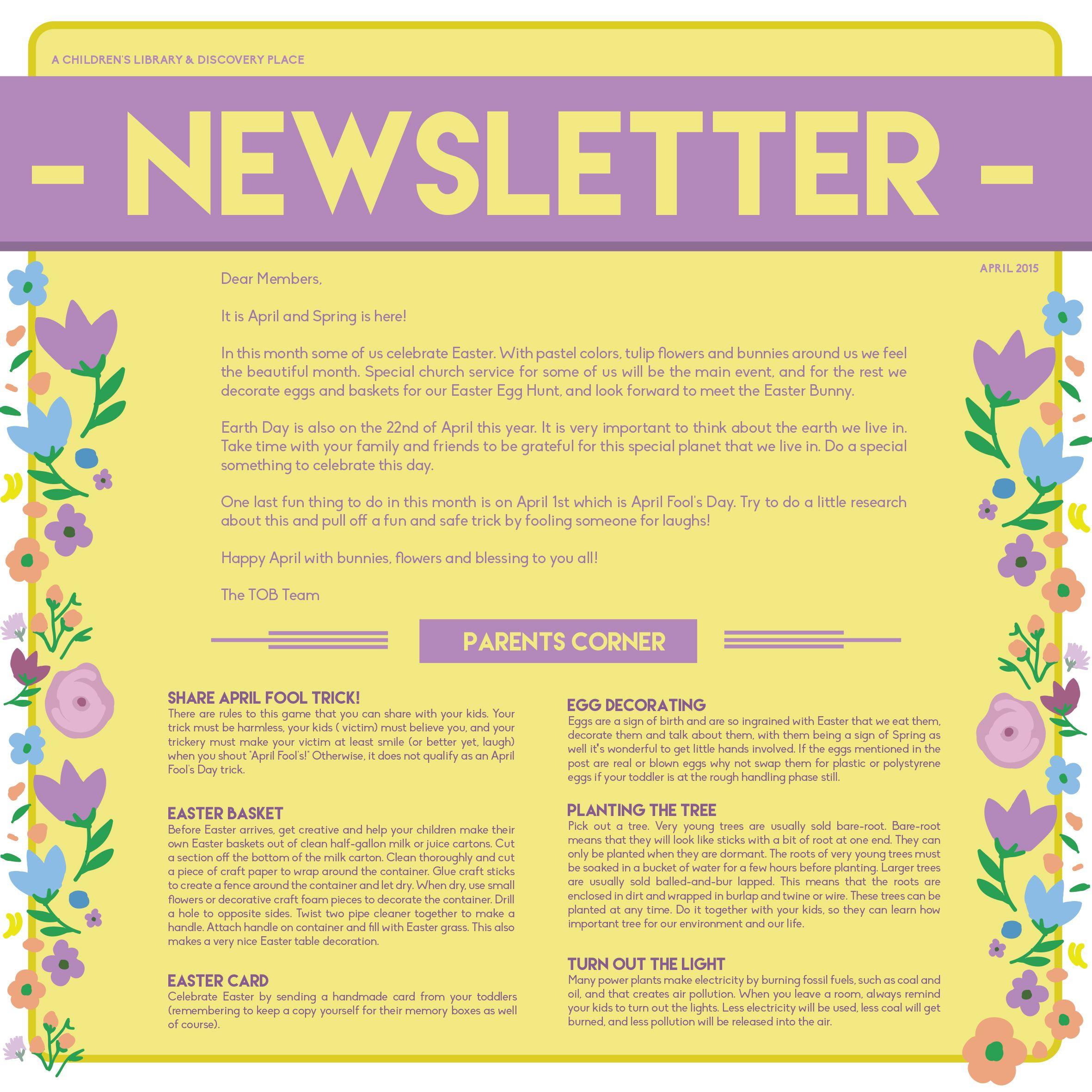Newsletter April 2015 ( 1 )