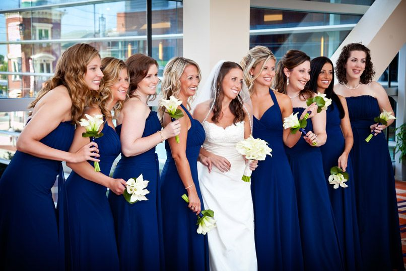 navy blue bridesmaid dresses | Lauri and Kevin's Wedding at ...