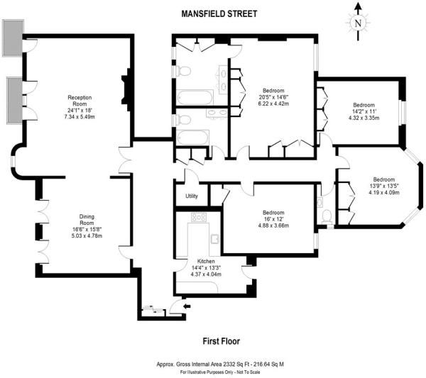 4 bedroom apartment for sale in Mansfield Street, London ...