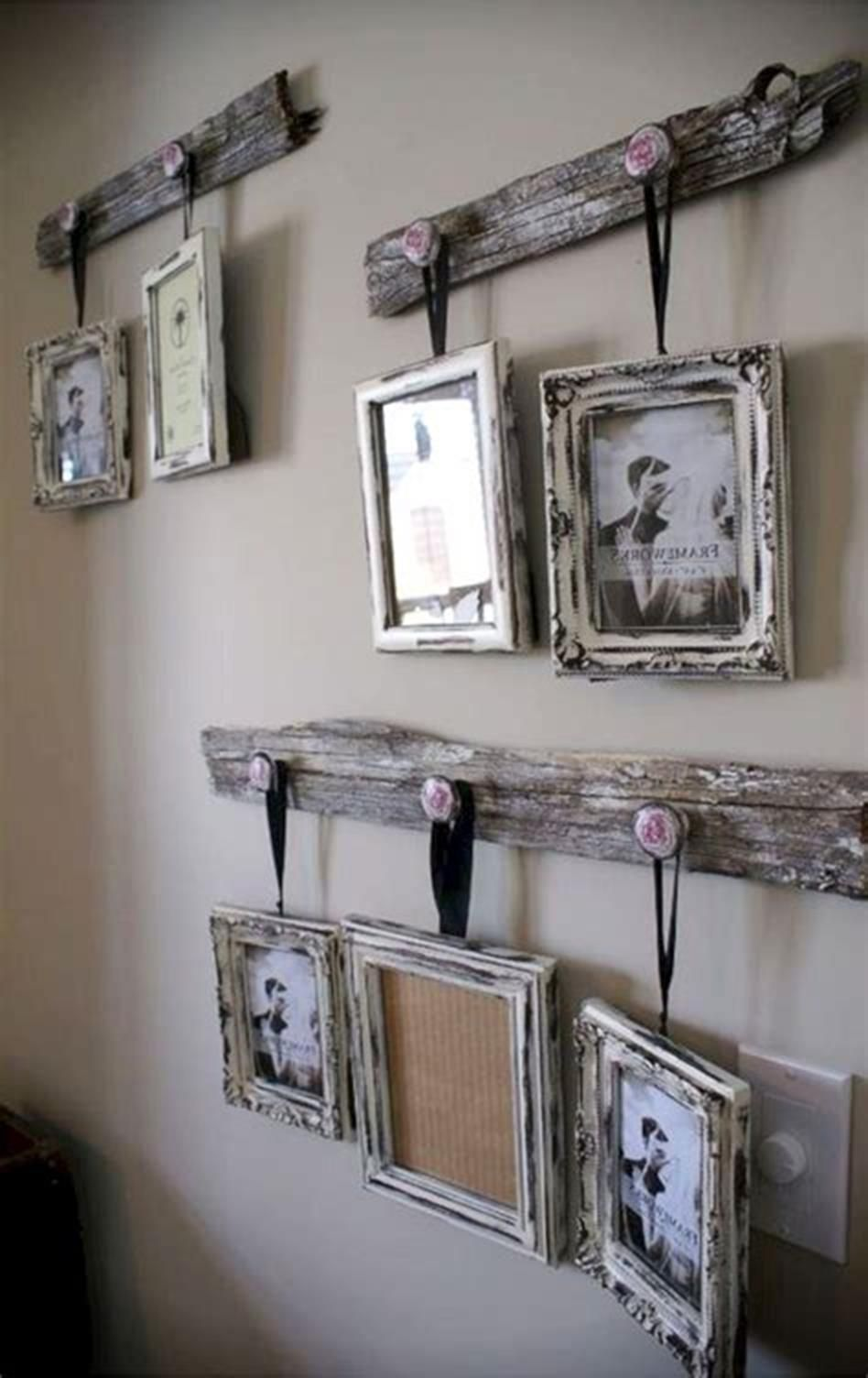 32 Beautiful Homemade Wall Decoration Ideas For Bedroom Rustic