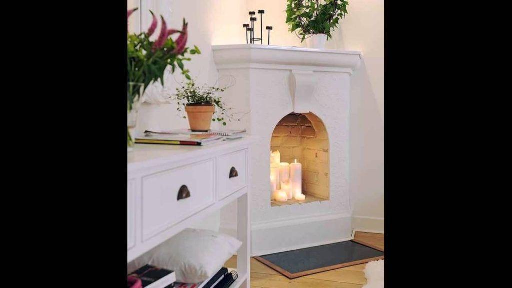 Deko Kamin Selbst Bauen küche zauberhaft dekokamin selber bauen diy kerze kamin ideen