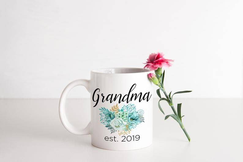 Promoted To Grandma Coffee Mug - Great Grandma Gift Granny Personalized Mug New Grandma Mug Pregnanc #newgrandma