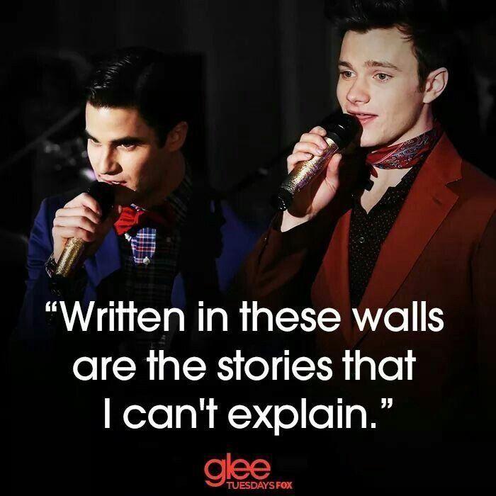 Glee KurtHummel BlaineAnderson Glee, Klaine, Quotes