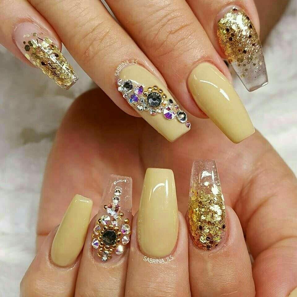 100 Gorgeous Rhinestones Nail Art Designs To Make An Alluring ...