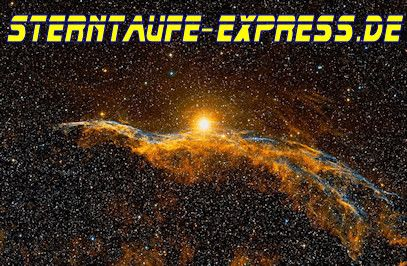 Sterntaufe Express. Total einzigartige Geschenke! www.sterntaufe-express.de