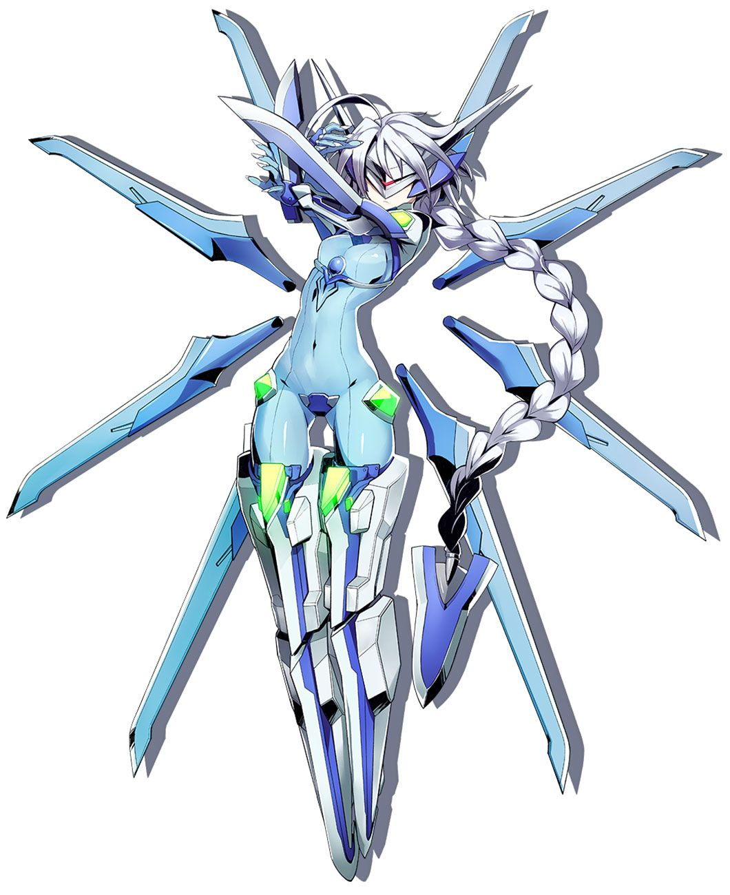 nu from blazblue: central fiction | anime girls | pinterest