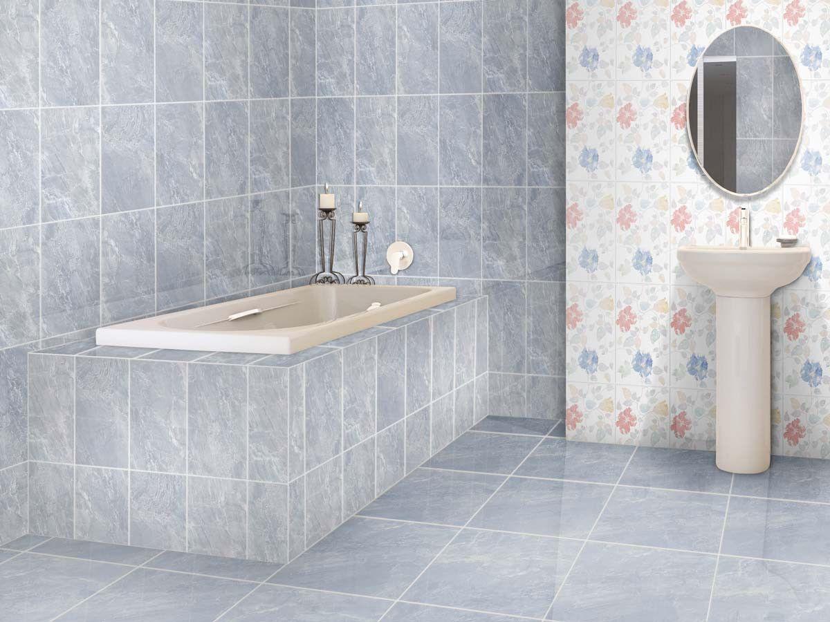 Flores Blue Shiny Ceramic Wall Tile 400 X 250mm Ctm Bathroom Wall Tile Blue Bathroom Walls Ceramic Wall Tiles