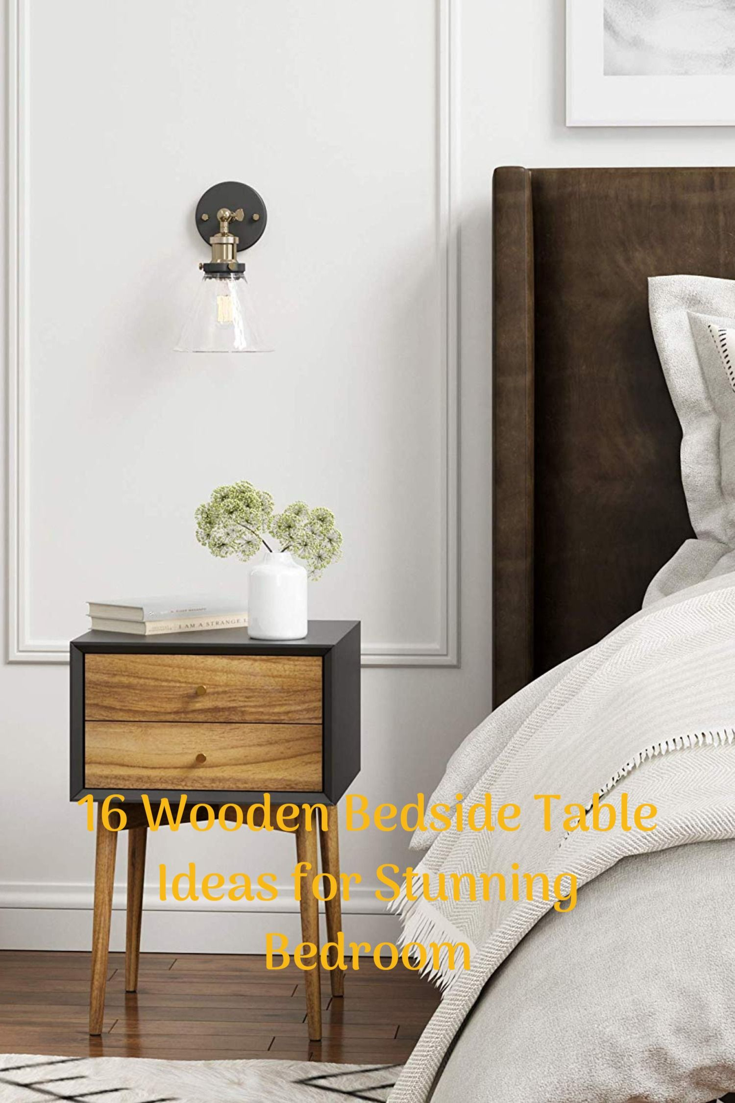 No Ideas On How Wooden Bedside Tables Design Could Be This
