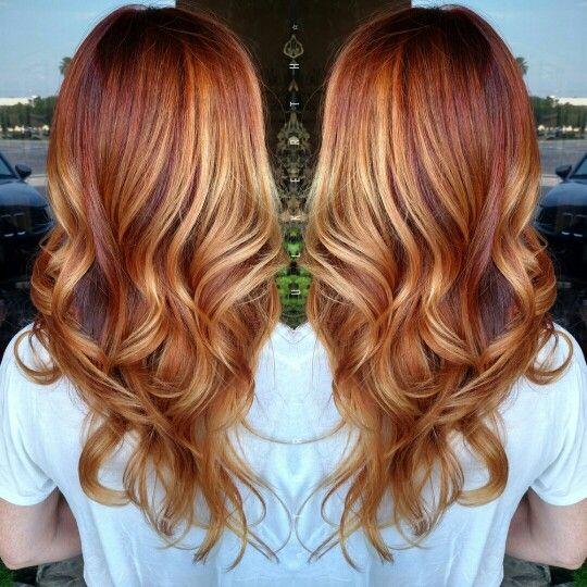 Red copper blonde Balayage | Toria* Hair Artist | Pinterest | Blonde ...