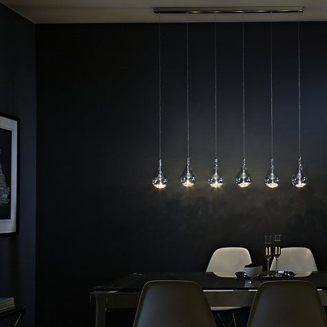 Buy John Lewis Sebastian Linear 6 Light Semi Flush Ceiling Online At Johnlewis
