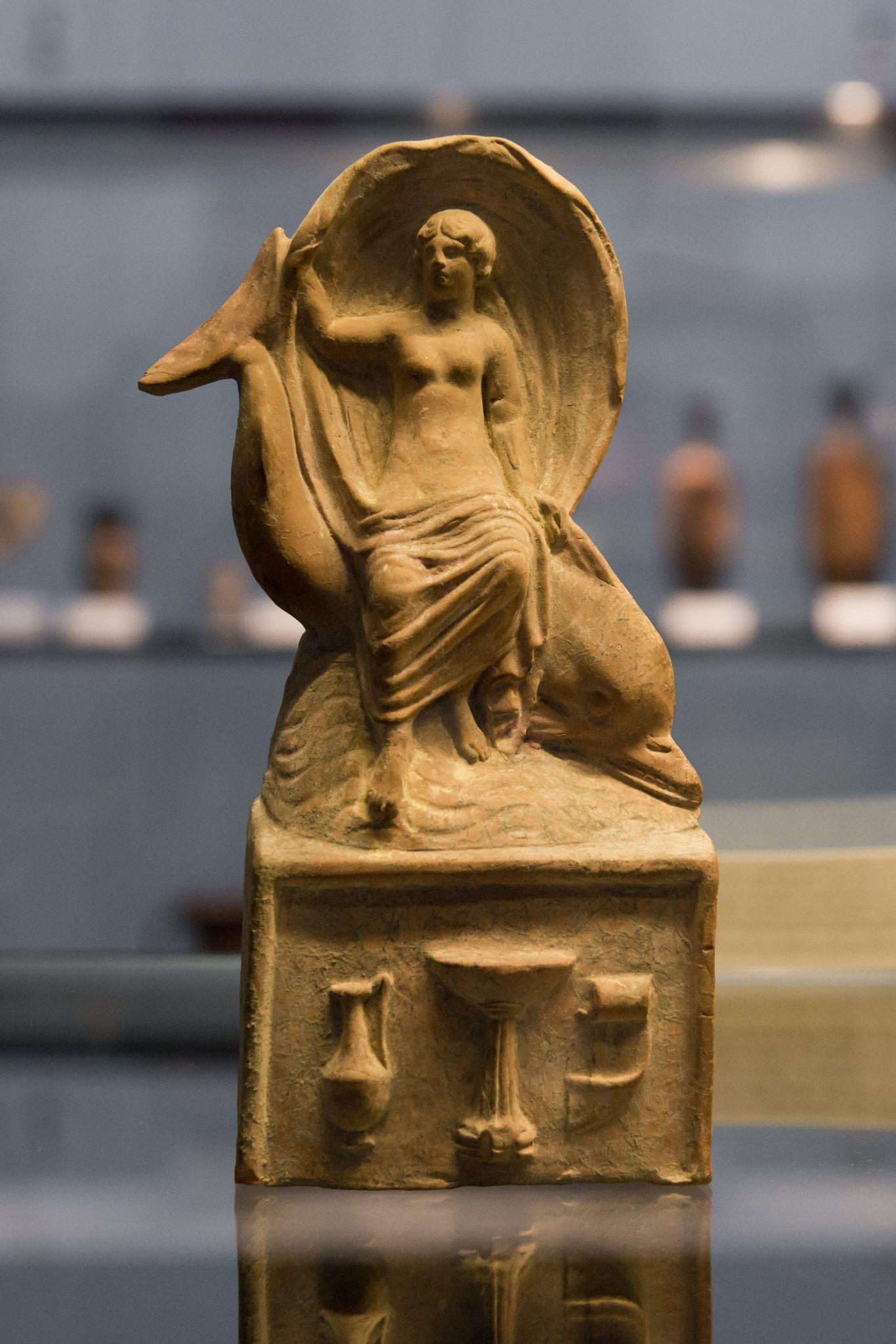 Aphrodite Riding Dolphin In 2019 Greek Roman Etruscan