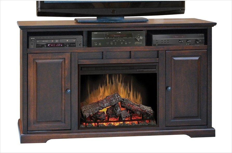 Legends Furniture Brentwood Danish Cherry 64 Electric Fireplace
