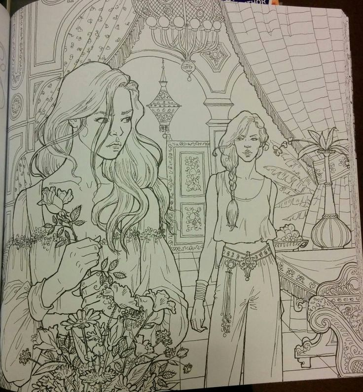 A court of thorns and roses coloring book lovely 269 best