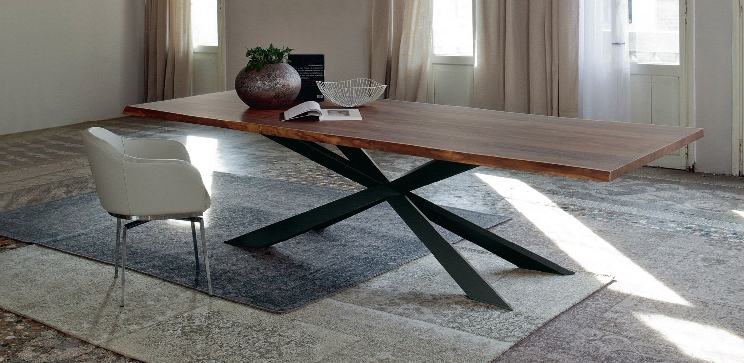 Tables Spyder Wood Cattelan Italia Contemporary Wood Dining