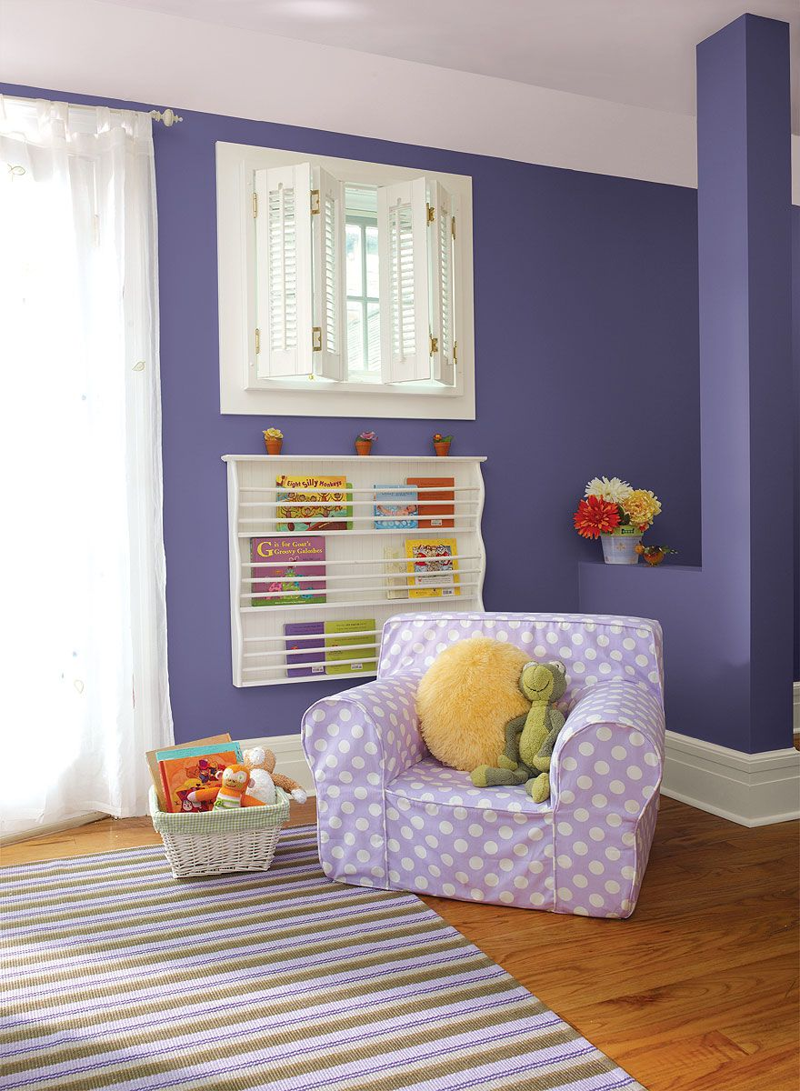 interior paint ideas and inspiration | purple kids rooms