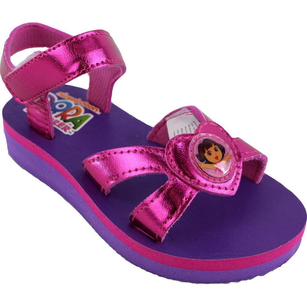 Lavender sandals shoes - Nick Jr Dora The Explorer Hearts Hot Pink Lavender Toddler Sandals Shoes 9 10