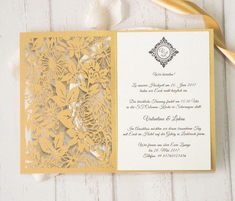 Wpl0030 1 Diese Wundervoll Veredelte Hochzeitskarte Erinnert An Einen Majestatischen Garten Mit Zahlreichen Paradiesis Karte Hochzeit Hochzeitskarten Hochzeit