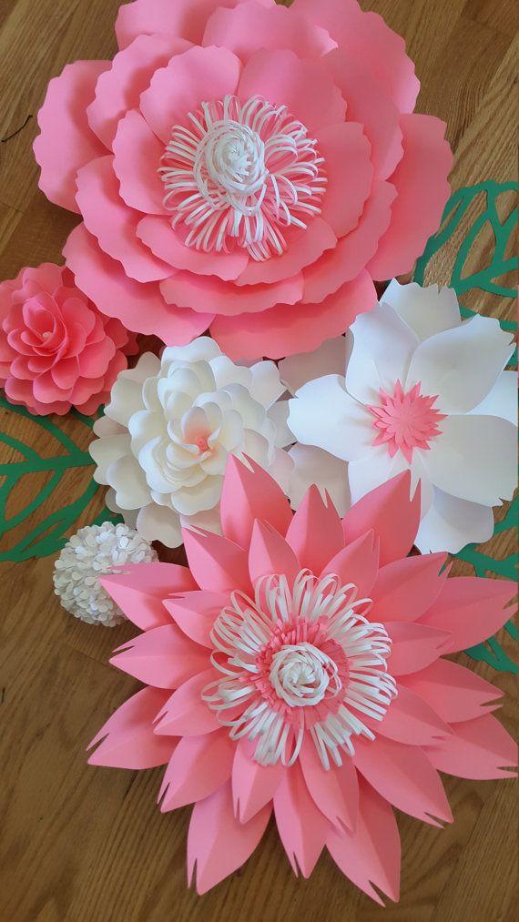 Flores de papel de cuarto de ni os decoraci n por - Adornos para bebes ...