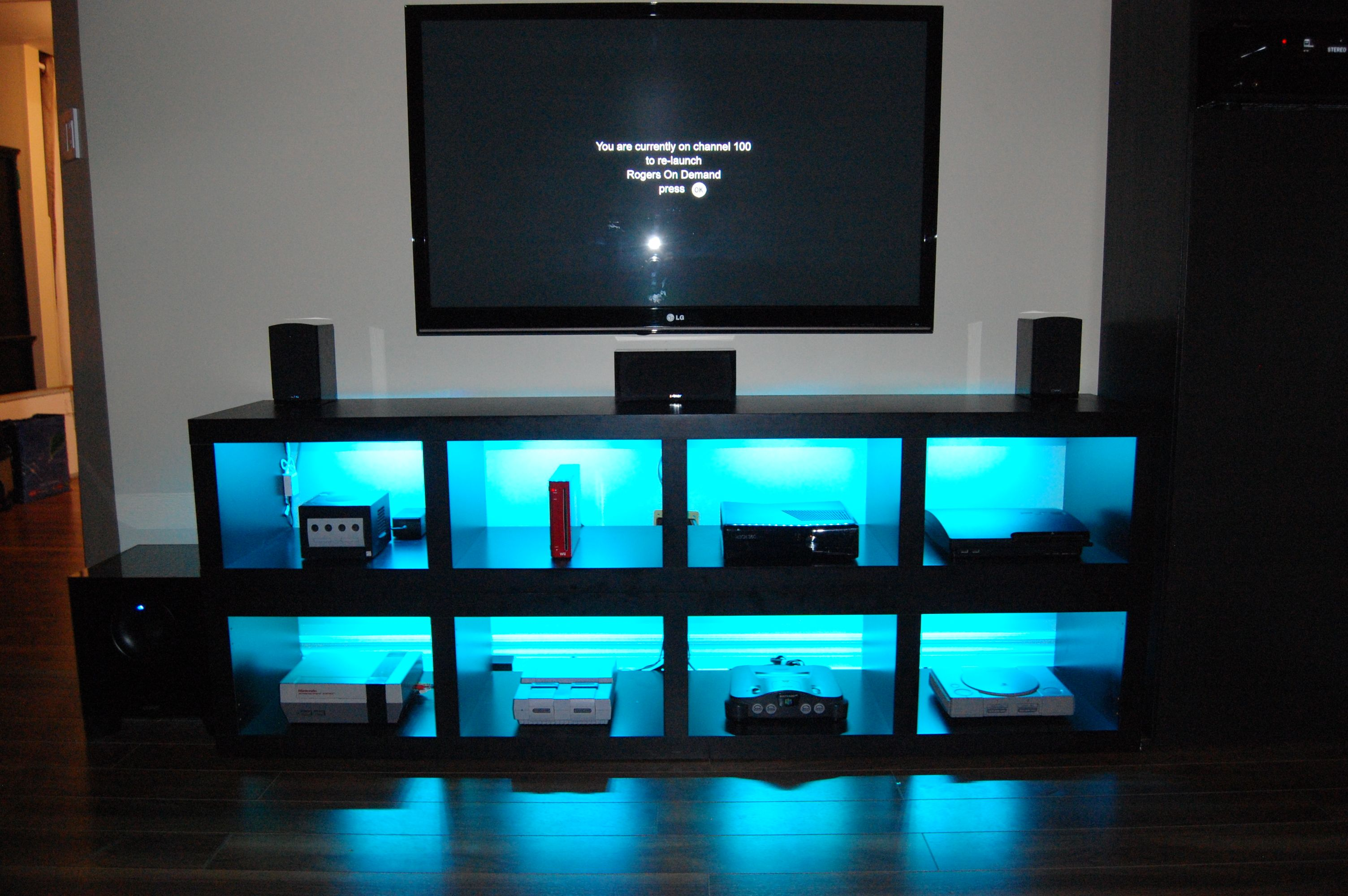 diy gaming shelf  led backlit some modding to basic gaming shelves ideas gaming shelves with information about them