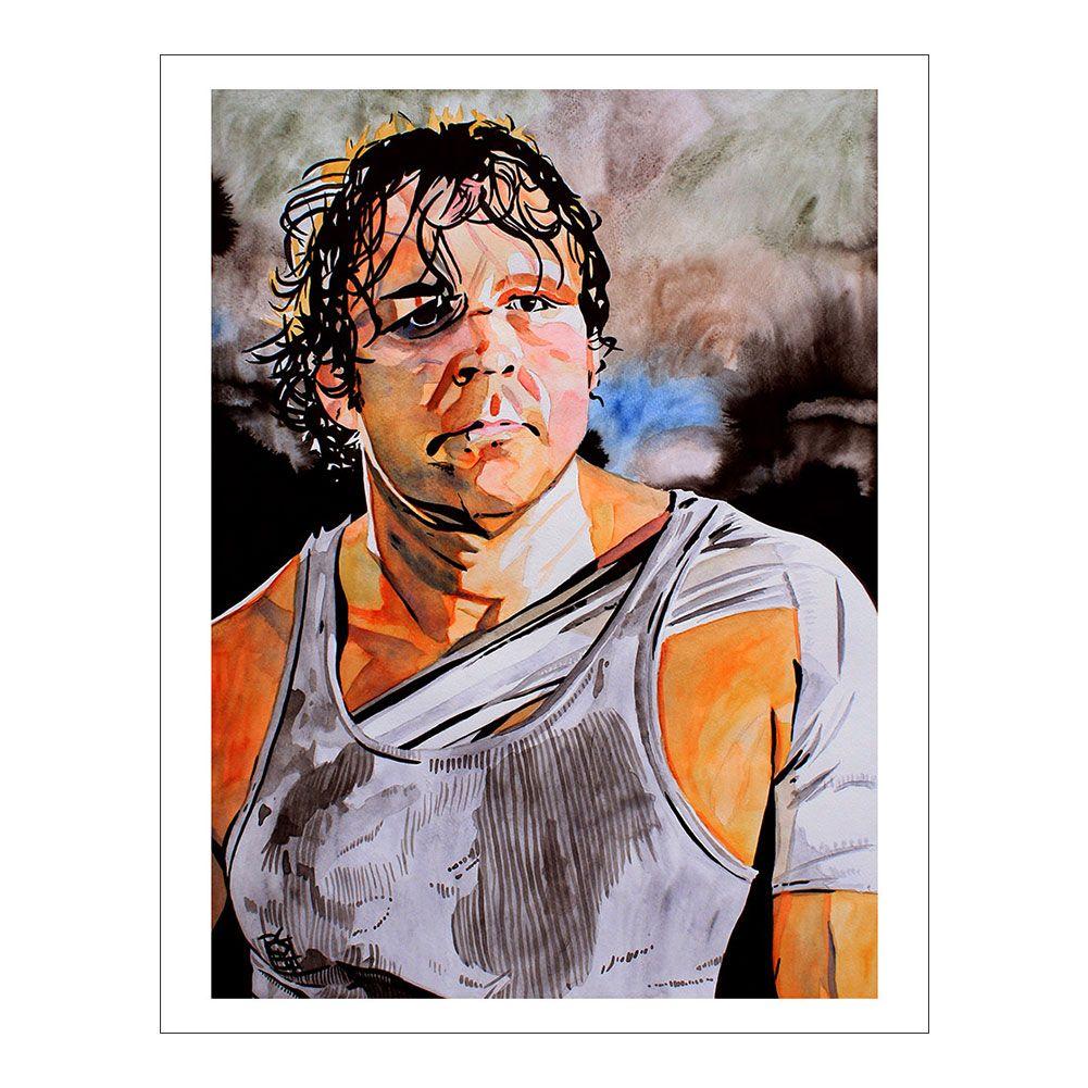 Dean Ambrose 11 x 14 Art Print Dean ambrose, Wrestling