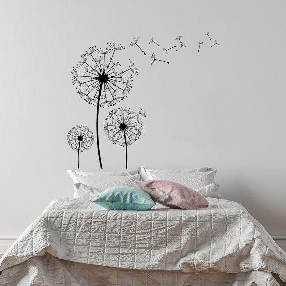 Dandelion Blossom Wall Decal- Dandelion Flower Vinyl Wall Decal for ...