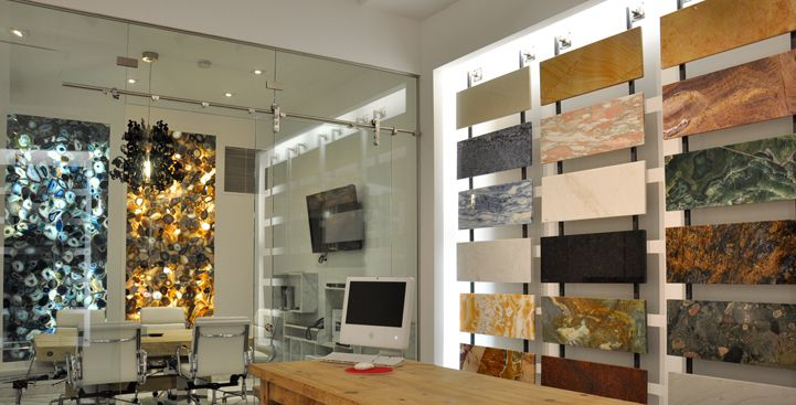 Marble natural stone showroom in nj nyc ny stone for Showroom flooring ideas