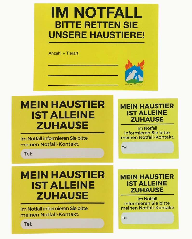 Haustier Notfallkarte Xxl Set Haustier Notfallkarte Haustier Aufkleber Notfall