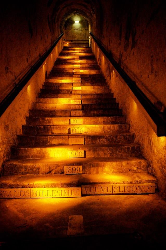 Veuve Clicquot stairs in FRANCE