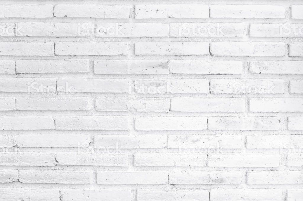 White Painted Brick Wall Material From Front View Painted Brick