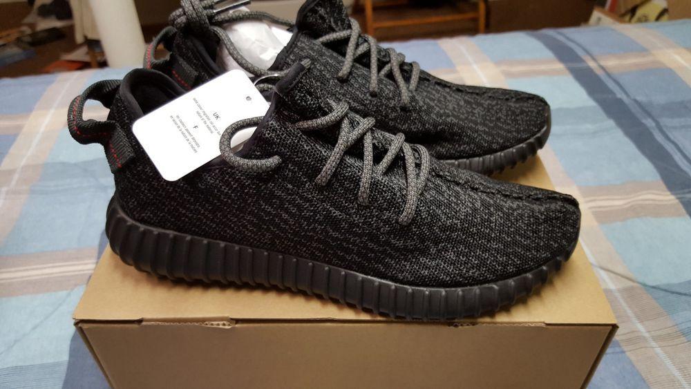 100% autentico 2016 material Adidas Yeezy Boost 350 pirata negro