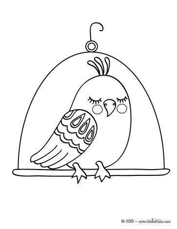 Kawaii bird coloring page. Nice bird coloring sheet. More original ...