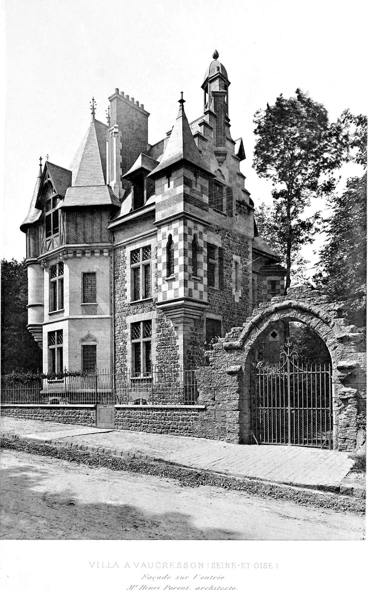 Villa vaucresson maisons de banlieue du xixi me si cle for Belle architecture villa