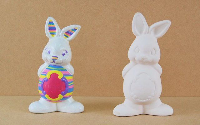 Select Item Easter Ceramic Ornament Painting Set Easter Bunny or Chick Age 4