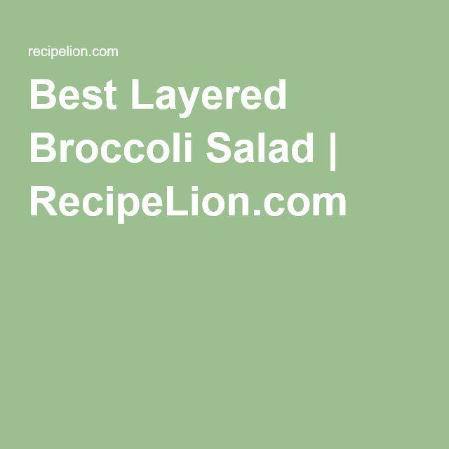 Best Layered Broccoli Salad   RecipeLion.com
