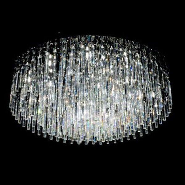 Contemporary 12 Light Crystal Flush Mount Chandelier With Chrome Finish D9 Modern Crystal Chandelier Flush Mount Chandelier Cool Chandeliers