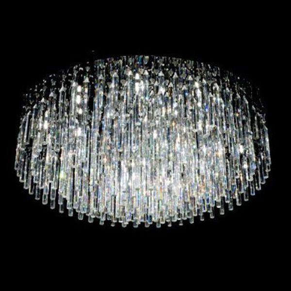 Modern Contemporary 12 Ceiling Light Crystal Flush Mount