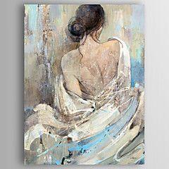 Peinture à Lhuile De Personnes Modernes Dos Dune Femme Nue Main