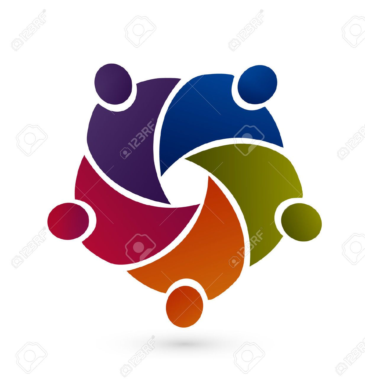 Vector Teamwork Graphic Icon Royalty Free Cliparts, Vectors, And ...