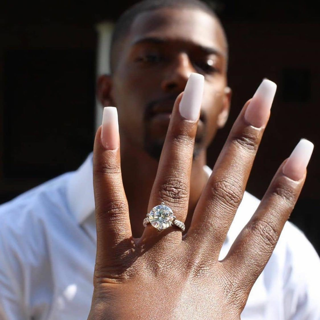 Intimate Indian African American Multicultural Wedding In Atlanta Munaluchi Bride Engagement Engagement Ring Styles Engagement Couple
