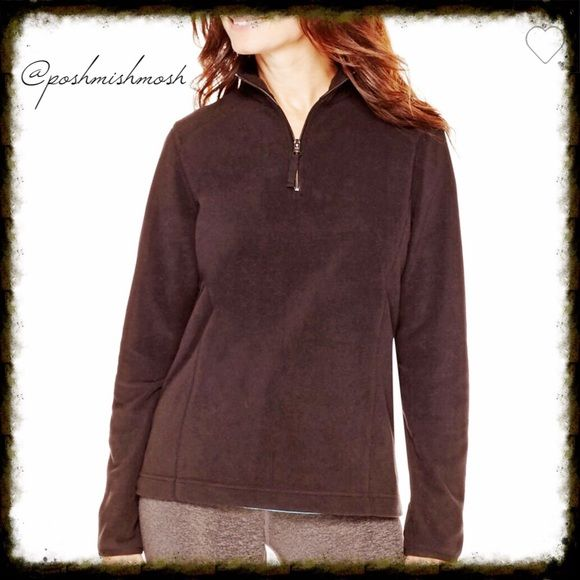 Black 1/4 Zip Pullover Soft and warm, this 1/4-zip pullover in cozy brushed fleece will be your first choice for casual weekend comfort. mock neck micro polar fleece polyester Tops Sweatshirts & Hoodies