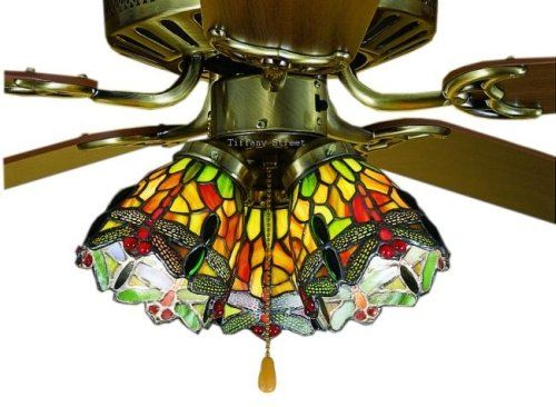 Hanginghead dragonfly tiffany stained glass ceiling fan 52 inches glass hanginghead dragonfly tiffany stained glass ceiling fan aloadofball Images