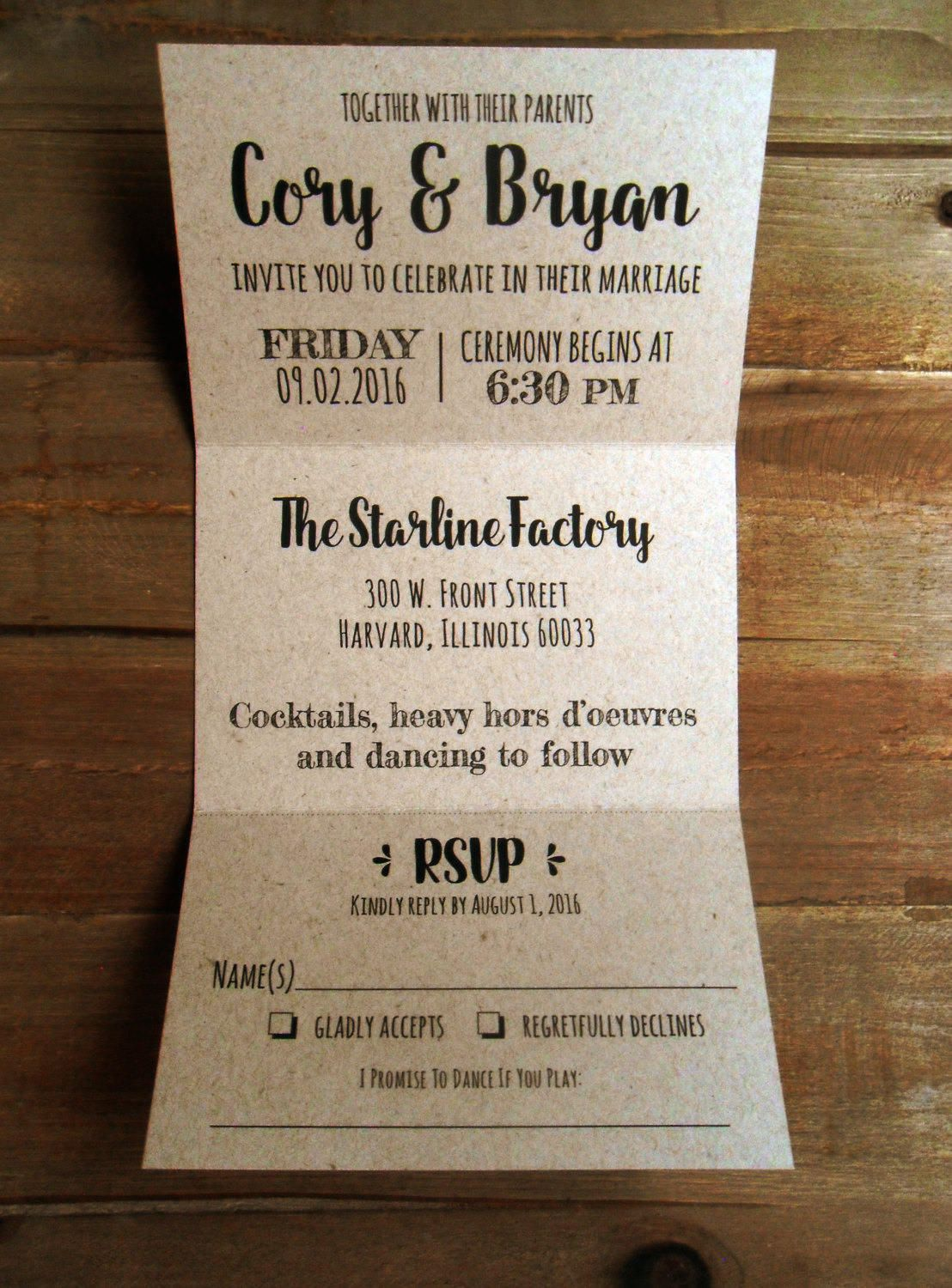 45+ Trifold wedding invitations with rsvp ideas in 2021