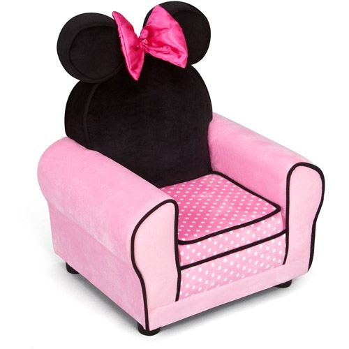 Disney Minnie Mouse Chair Pink White Polka Dots Perfect For Toddler Room