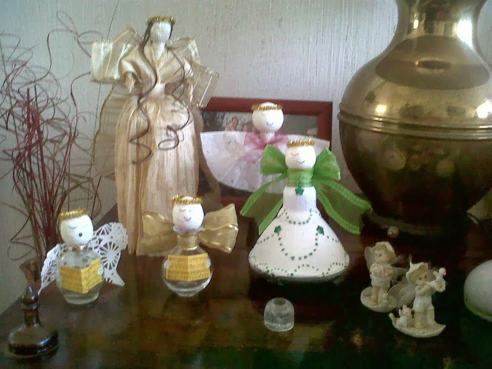 Smicasa decoracion navide a reciclada frascos vacios de - Bombillas de decoracion ...