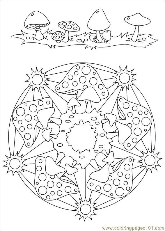 Food Coloring Mandalas Coloring Pages Mandalas 034 Other
