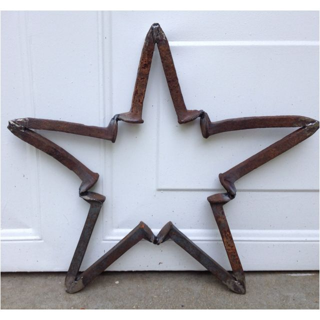 Welded spike star...more railroad awesomeness